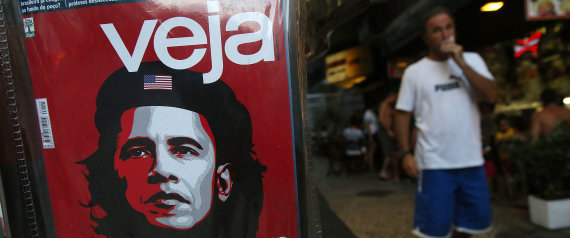 Conservative Brazilian Magazine Runs Caricature Of Obama As Che Guevera